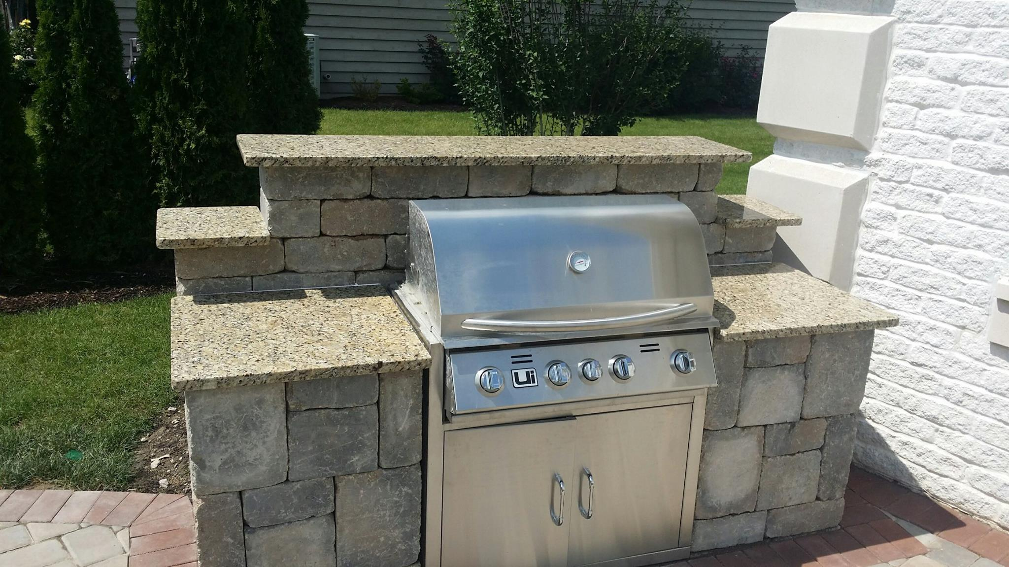 Grill Surround Granite Top