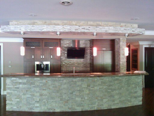 Bar Granite Top and Tiles- Full Project